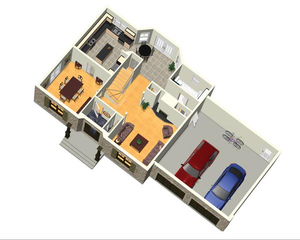 Colonial Floor Plan - Main Floor Plan Plan #25-4701