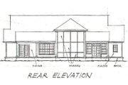 Farmhouse Style House Plan - 4 Beds 3 Baths 2512 Sq/Ft Plan #20-167 Exterior - Rear Elevation