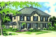 Traditional Style House Plan - 4 Beds 3.5 Baths 3371 Sq/Ft Plan #45-212 Exterior - Front Elevation