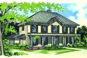Traditional Exterior - Front Elevation Plan #45-212
