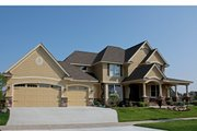 Farmhouse Style House Plan - 4 Beds 3.5 Baths 3035 Sq/Ft Plan #51-441 Exterior - Front Elevation