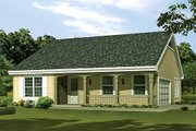 Cottage Style House Plan - 3 Beds 2 Baths 1202 Sq/Ft Plan #57-381