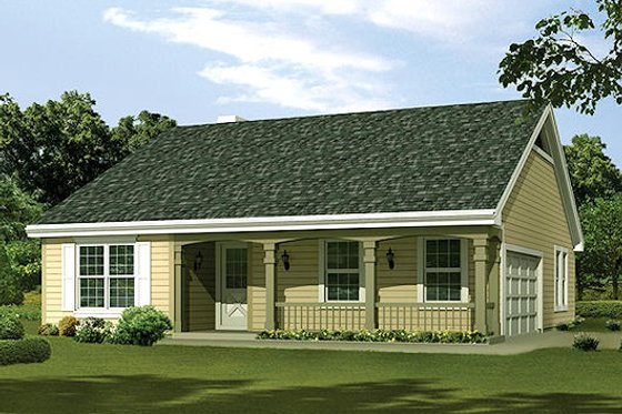 Cottage Exterior - Front Elevation Plan #57-381