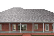 Southern Style House Plan - 4 Beds 2.5 Baths 2380 Sq/Ft Plan #44-173 Exterior - Rear Elevation