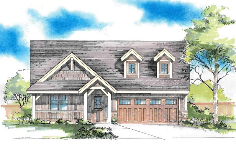Home Plan - Craftsman Exterior - Front Elevation Plan #53-616