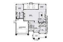 Modern Floor Plan - Main Floor Plan Plan #1066-13