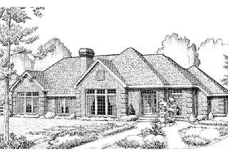 Home Plan - European Exterior - Front Elevation Plan #410-142