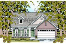 Country Exterior - Front Elevation Plan #42-356