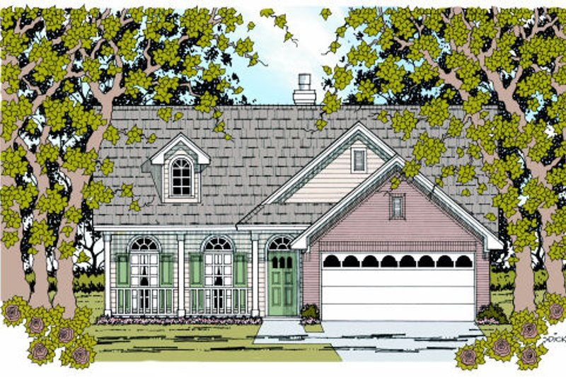 Country Exterior - Front Elevation Plan #42-356 - Houseplans.com