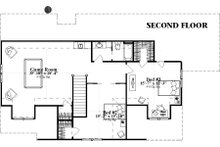 Country Floor Plan - Upper Floor Plan Plan #63-409