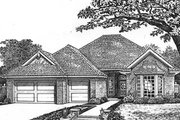 European Style House Plan - 4 Beds 3 Baths 2065 Sq/Ft Plan #310-592 Exterior - Front Elevation