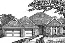 European Exterior - Front Elevation Plan #310-592