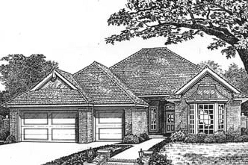 Dream House Plan - European Exterior - Front Elevation Plan #310-592