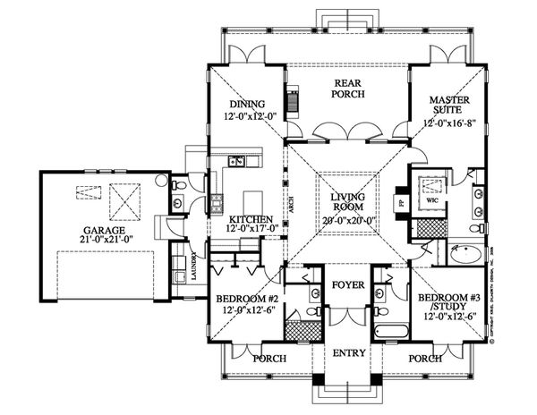 Beach Floor Plan - Main Floor Plan Plan #426-14