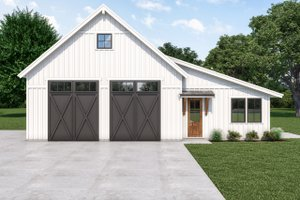 Dream House Plan - Farmhouse Exterior - Front Elevation Plan #1070-120