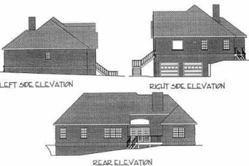Southern Exterior - Rear Elevation Plan #56-169 - Houseplans.com