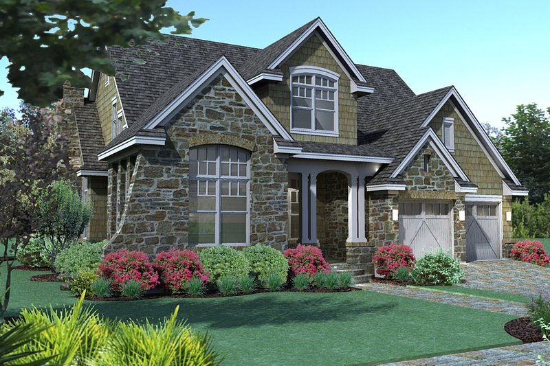 Traditional Exterior - Front Elevation Plan #120-166 - Houseplans.com