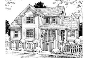 Traditional Exterior - Front Elevation Plan #20-370