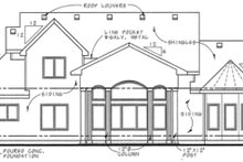 House Plan Design - Country Exterior - Rear Elevation Plan #20-2133