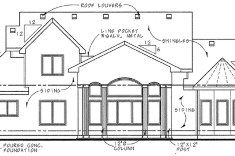 Country Exterior - Rear Elevation Plan #20-2133 - Houseplans.com