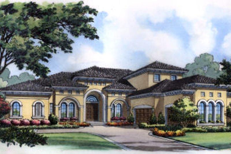 Dream House Plan - European Exterior - Front Elevation Plan #417-436