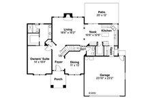 Traditional Floor Plan - Main Floor Plan Plan #124-382