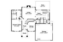 Traditional Floor Plan - Main Floor Plan Plan #124-382