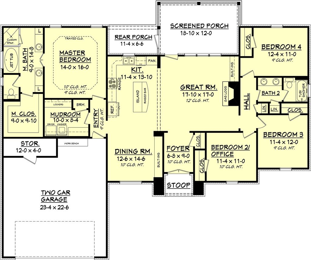 European Style House Plan - 4 Beds 2 Baths 2000 Sq/Ft Plan ... on 4000 sq ft open house plans, 1500 sq ft open house plans, 800 sq ft open house plans, 1200 sq ft open house plans, 1700 sq ft open house plans, 1800 sq ft open house plans,