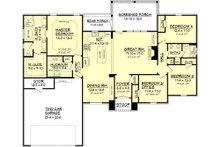 European Floor Plan - Main Floor Plan Plan #430-74