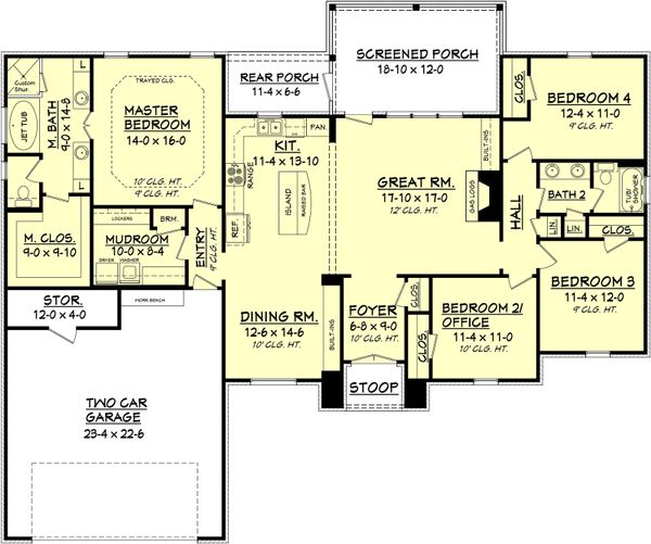 House Plan Design - European Floor Plan - Main Floor Plan #430-74