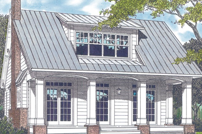 Craftsman Style House Plan - 3 Beds 3 Baths 2010 Sq/Ft Plan #453-74 Exterior - Front Elevation