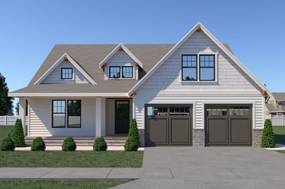 Country Exterior - Front Elevation Plan #1070-37