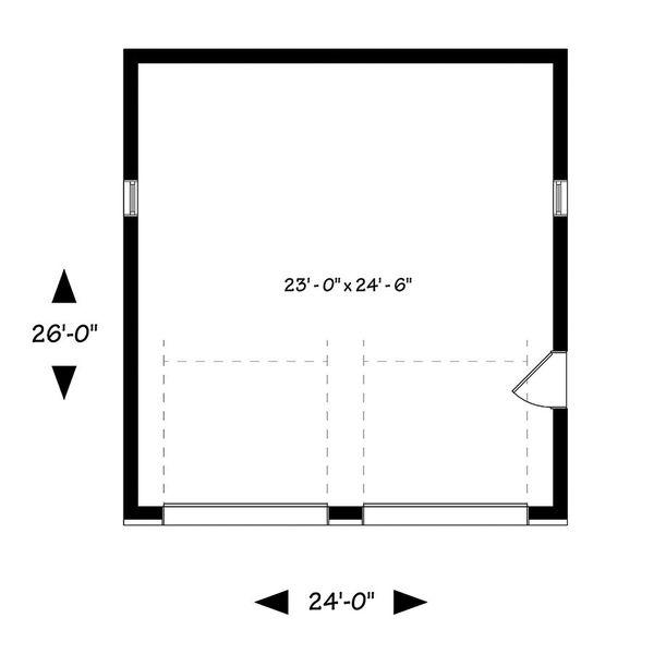 Contemporary Floor Plan - Main Floor Plan Plan #23-2636