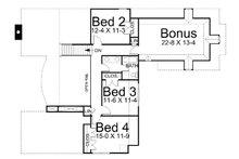 European Floor Plan - Upper Floor Plan Plan #119-256