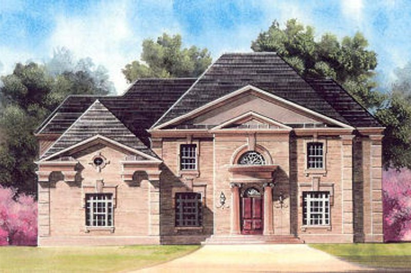 European Exterior - Front Elevation Plan #119-312