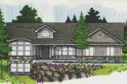 Traditional Style House Plan - 7 Beds 3.5 Baths 4214 Sq/Ft Plan #308-122 Exterior - Front Elevation