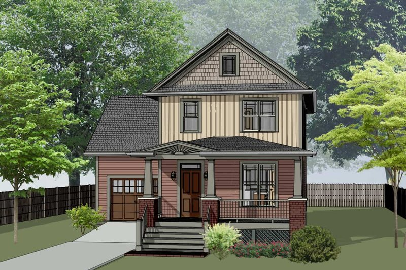 House Plan Design - Farmhouse Exterior - Front Elevation Plan #79-257
