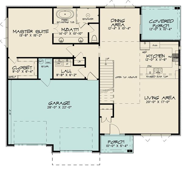 Contemporary Floor Plan - Main Floor Plan Plan #17-3426