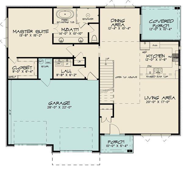 Dream House Plan - Contemporary Floor Plan - Main Floor Plan #17-3426