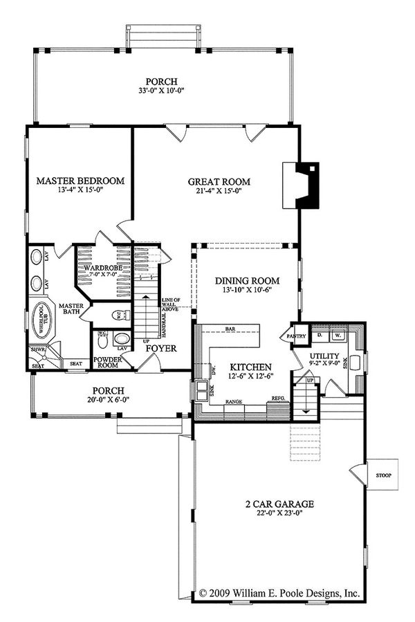 Traditional Floor Plan - Main Floor Plan Plan #137-263