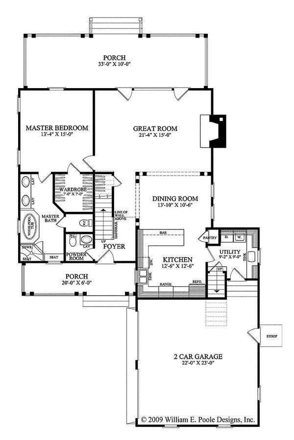 Dream House Plan - Traditional Floor Plan - Main Floor Plan #137-263