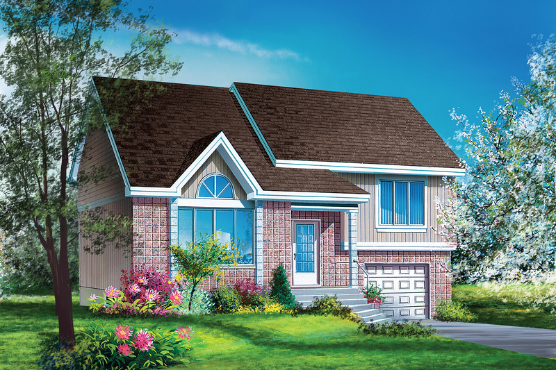 Traditional Style House Plan - 3 Beds 1.5 Baths 1341 Sq/Ft Plan #25-2204 Exterior - Front Elevation