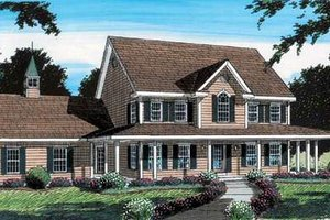 Colonial Exterior - Front Elevation Plan #312-584