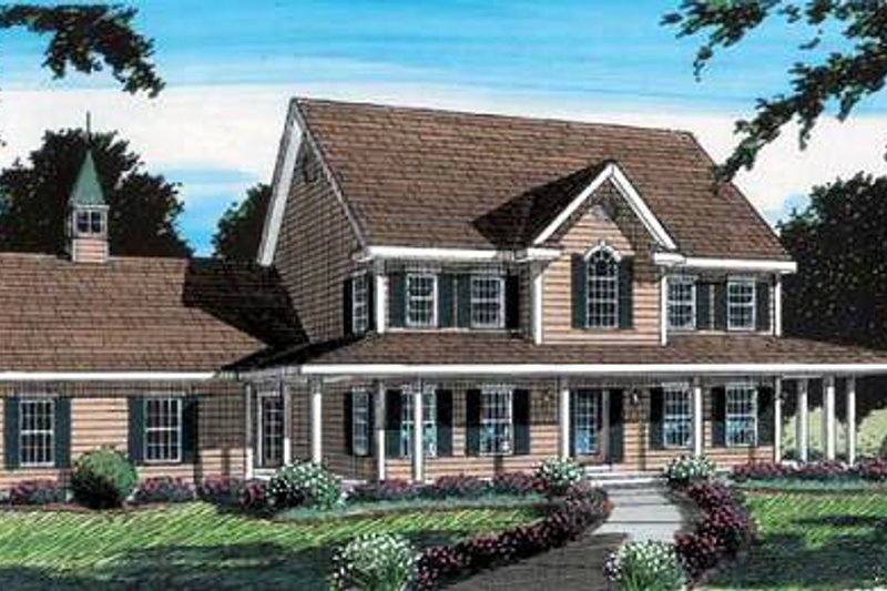 Colonial Style House Plan - 4 Beds 2.5 Baths 3025 Sq/Ft Plan #312-584