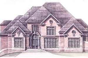 European Exterior - Front Elevation Plan #119-102
