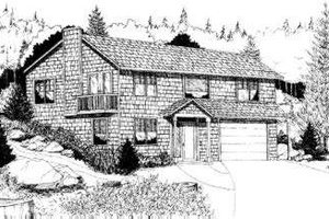 Ranch Exterior - Front Elevation Plan #303-328
