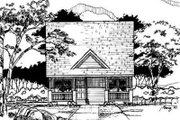Cottage Style House Plan - 3 Beds 2 Baths 1084 Sq/Ft Plan #50-219 Exterior - Front Elevation