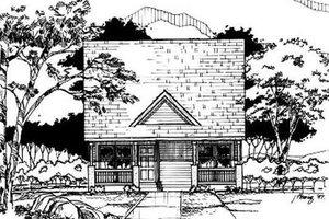 Cottage Exterior - Front Elevation Plan #50-219