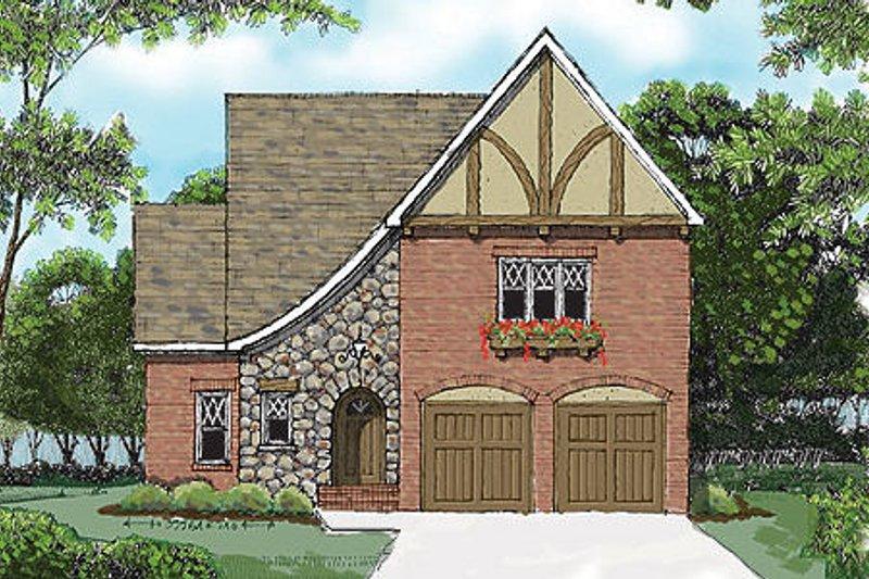 Tudor Exterior - Front Elevation Plan #413-137 - Houseplans.com