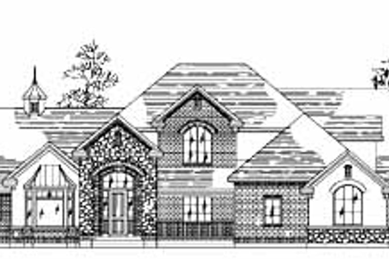 House Plan Design - European Exterior - Front Elevation Plan #5-221